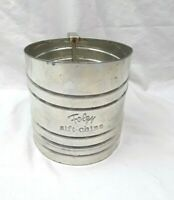 Foley Sift Chine Squeeze Handle Style Old Farm Kitchen Tin Flour Sifter