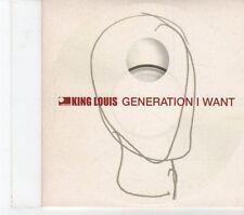 (FT805) King Louis, Generation I Want - 2001 DJ CD