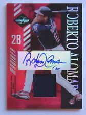 Roberto Alomar 2003 Leaf Limited Moniker Jersey Auto #5/5 Cleveland Indians #107