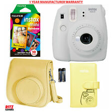 Fujifilm Instax Mini 9 Instant Camera - Smokey White + Accessory Bundle