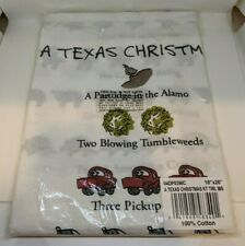 "NEW A Texas 12 Days of Christmas 18"" x 26"" Kitchen Tea Hand Towel by David Price"