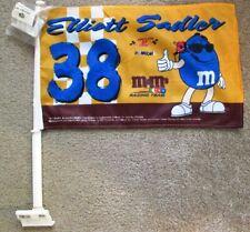 ELLIOTT SADLER #38 NASCAR 2005 M&M's Collectors Edition 2 Sided Car Flag