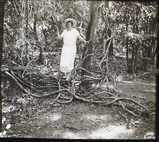 Indochine Viêt Nam Saïgon France Photo M4 Plaque de verre Stereo Positive 1923