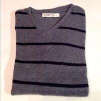 Men's Old Navy Sweater V-Neck Long Sleeve 100% Ribbed Cotton Size Large