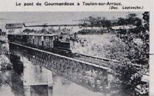 1966  --  TRAIN SUR LE PONT DE GOURMANDOUX A TOULON SUR ARROUX   3B920