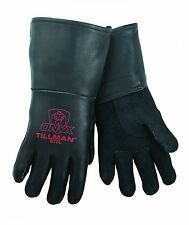 Tillman 875 Medium Stick Welding Gloves Black ONYX Top Grain Elkskin  1 Pair