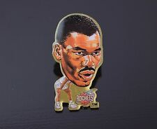 Hakeem Olajuwon Vintage Houston Rockets Enamel Button Lapel Pin Pinback