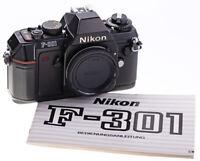 Nikon F-301 Body SN:3301453 Geprüft / Getestet TOP / Nahezu Unbenutzter Zustand