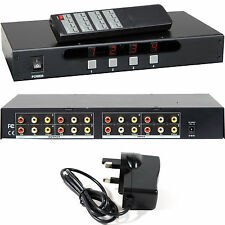 4x4 3RCA Matrix Switch/Splitter–Composite/AV Phono Multi-Room Distribution DVD