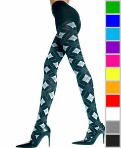 New Music Legs 7031 Opaque Pantyhose With Small Argyle Print