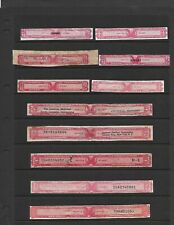 U.S. 11 Revenue Tax Paid Bottle Strips For Distilled Spirits, Nice Variety
