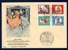 Germany B426-B429 Frau Holle (Fairy Tale) FDC, E-B Cachet, EC, UA, OF.