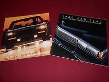 1986 CADILLAC DEVILLE / FLEETWOOD HUGE 36 p. CATALOG + TOURING EDITIONS BROCHURE