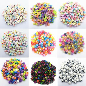 20/50Pcs Square Letter Loose Beads DIY For Jewelry Making Necklace Bracelet