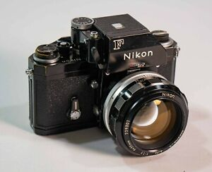 "Nikon F Photomic FTN ""Apollo"" 35mm Camera Body Black 55 f1.2 Nikkor-S lens EX"