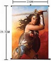 "Hot 2017 Movie New DC Comic Wonder Woman Wall Scroll Art Poster 01 8/""x12/"""