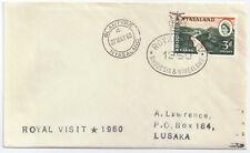 Southern Rhodesia & Nyasaland 1960 Cover Royal Visit 27 May Blantyre.