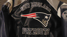 New New England Patriots NFL Embroidered Pleather Jacket size XXLarge Authentic