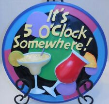 """It's 5 O' Clock Somewhere Spoontiques Sign Wall 9.5"""" Plaque Decoration Margarita"""