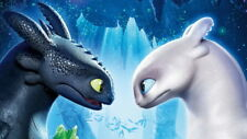 """021 How to Train Your Dragon 3 - The Hidden World Hiccup Movie 42""""x24"""" Poster"""