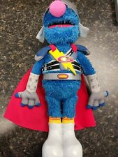 "Hasbro Sesame Street Flying Super Grover 2.0 Doll Talks & Sings #39995 14"" tall"