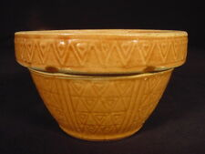 RARE 5 INCH PUMPKIN GLAZE DIAMOND & HEART PATTERN BOWL YELLOW WARE MINT