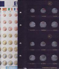 Leuchtturm VISTA Münzblätter für Euro Sätze  MBLeuro8/2