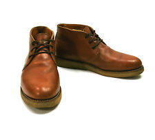 Red Wing 595 Chukka Boot 12 B Traction Tred Brown Wedge Sole Heritage Work Shoes