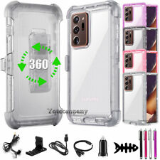 Samsung Galaxy Note 20/20 Ultra 5G Shockproof Crystal Case Cover Belt Clip Stand