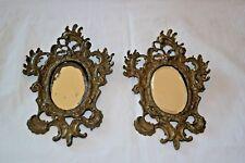 Paire de Miroirs en bronze de style Louis XV rocaille - miroir ancien au mercure