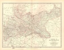 1880 ANTIQUE MAP - EMPIRE OF GERMANY, NORTHERN PORTION