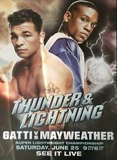 Floyd Mayweather vs Arturo Gatti pay per view poster Thunder & Lightning