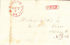 Stampless Letter (pre-phila.): 1832 SCHODACK CTR, NY, 27 mm, red, FREE in oval