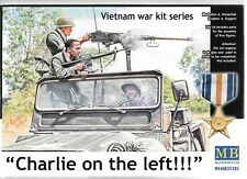MB Vietnam 'Charlie on the Left' US, Viet Cong Figures in Action 1/35 105  A2