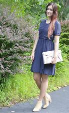 Burberry Brit Womens Cotton Silk Navy Dress Size 8