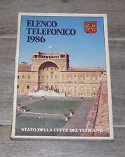 Rarissimo elenco telefonico abbonati Stato della Città del Vaticano 1986