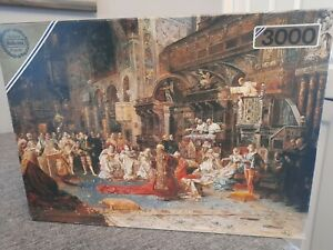 VINTAGE FALCON  MAJESTIC 3000 PIECE JIGSAW PUZZLE THE SERMON BAG FACTORY SEALED