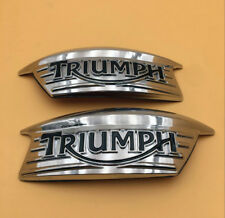 Fuel Gas Tank Badges Decal L/R for Triumph T100 Classic Bonneville Thruxton 900