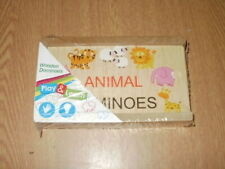 Wooden Animal Dominoes **NEW & SEALED**