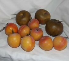 Artificial Fake Faux Fruit Apples Peaches Lifelike Home Decor Lot 11 pcs