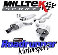 MILLTEK Mustang 5.0 v8 GT Sistema Di Scarico Cat Indietro Consonanza DUAL NERO gt-100