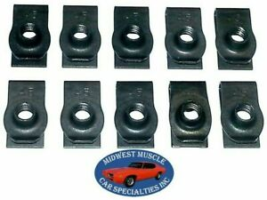NOSR Chrysler Dodge Plymouth Body Fender Frame 1/4-20 Bolts U Clips J Nuts 10p D
