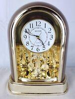 RHYTHM Sound Table European Mute Silent Table Mantle Mantel Quartz Clock 4SG696
