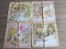 Vtg Childs Hankie Drawing Board Nakanishi A Noel Lot Of 4 Quilting Baby Quilt