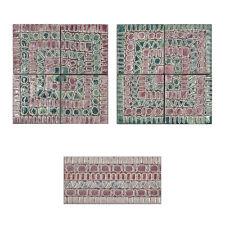 CERAMICA DI TREVISO listello e decoro rivestimento parete TORCELLO rosa mix