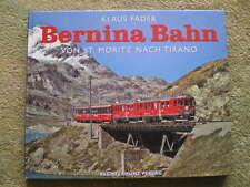 Bernina Bahn St. Moritz nach Tirano Schweiz Alpen Eisenbahn Dampfschneeschleuder