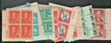 1030/1050 Liberty Plate Blocks Mint og NH Never Hinged Free Shipping