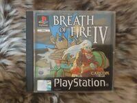 BREATH OF FIRE IV 4 PlayStation Game PAL (PS1) Black Label Complete CAPCOM Mint