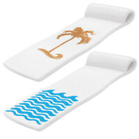 TRC Recreation Sunsation Pool Floats, Bronze Palm White and Blue Wave White