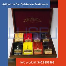 SCATOLA BOX REGALO IN LEGNO + PZ 60 TÈ TWININGS ASSORTITI BREAKFAST GREY CEYLON